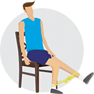Knee strengthener – Move 1 infographic