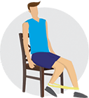 Knee strengthener – Move 2 infographic
